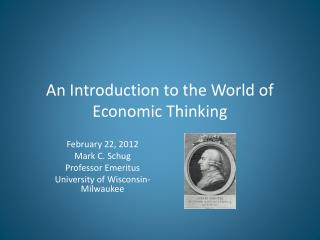 An  Introduction to the World of Economic Thinking