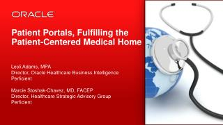 Patient  Portals, Fulfilling the Patient-Centered Medical Home