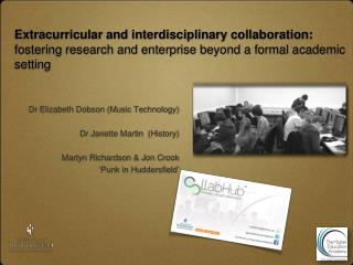 Extracurricular and interdisciplinary collaboration:  fostering research and enterprise beyond a formal academic settin