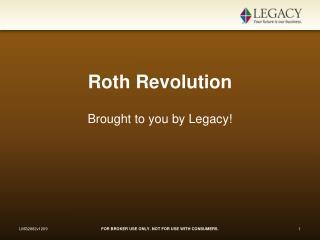 Roth Revolution