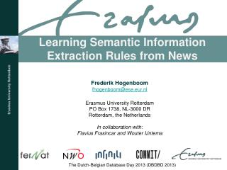 Learning Semantic Information Extraction Rules from News