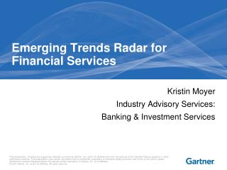 Emerging Trends Radar for Financial Services