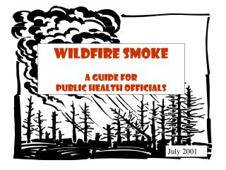 Wildfire Smoke A Guide for Public Health