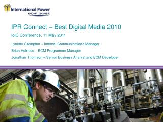 IPR Connect – Best Digital Media 2010