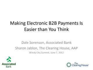 Making Electronic B2B Payments Is Easier than You Think