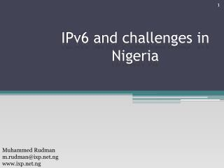 IPv6 and challenges in Nigeria