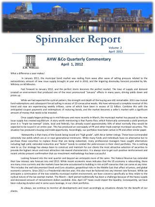 Spinnaker Report