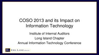COSO 2013 and its Impact on Information Technology