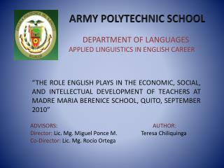 ARMY POLYTECHNIC SCHOOL