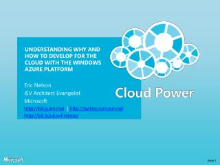 Understanding why and how to develop for the cloud with the Windows Azure platform