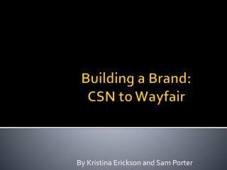 Building a Brand:  CSN  t o Wayfair