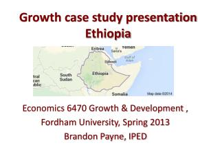 Growth case study presentation Ethiopia