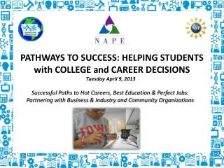 PATHWAYS TO SUCCESS: HELPING STUDENTS with COLLEGE and CAREER DECISIONS Tuesday April 9, 2013
