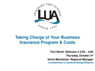 Taking Charge of Your Business Insurance Program & Costs