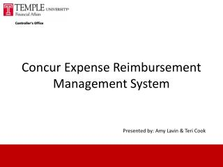 Concur Expense Reimbursement Management System