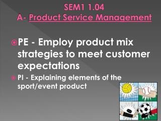 SEM1 1.04  A-  Product Service Management