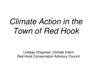Climate Action in the Town of Red Hook