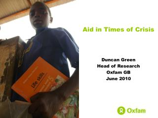 Aid in Times of Crisis