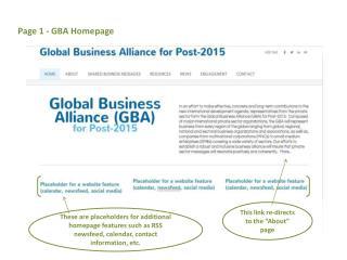 Page 1 - GBA Homepage