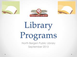 Library Programs