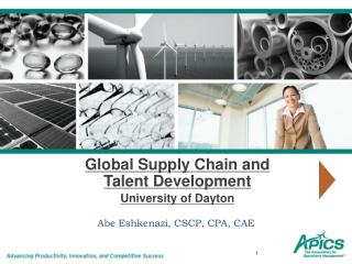 Global Supply Chain and Talent Development University of Dayton