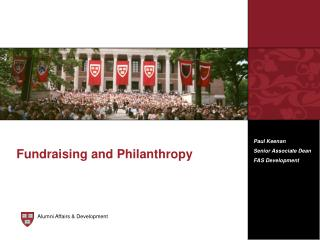 Fundraising and Philanthropy