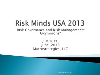 Risk Minds USA 2013