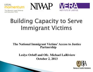 Building Capacity to Serve Immigrant Victims