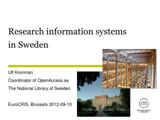 Research information systems  in Sweden