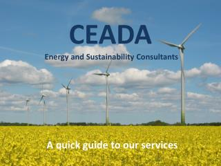 CEADA Energy  and  Sustainability  Consultants