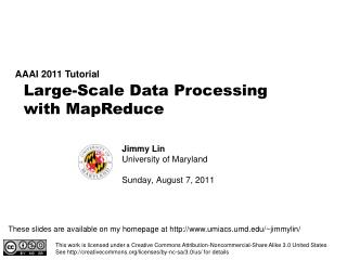 Large-Scale Data Processing  with MapReduce