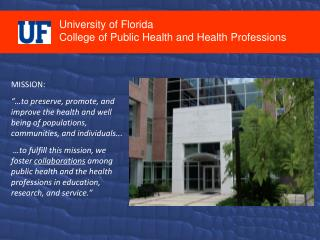 University of Florida College of Public Health and Health Professions