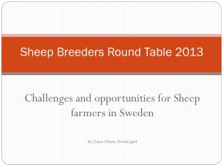 Sheep  Breeders Round Table 2013