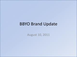 BBYO Brand Update