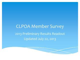 CLPOA Member Survey