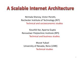 A Scalable Internet Architecture