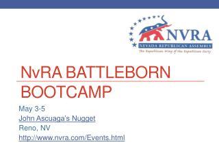 N v RA Battleborn Bootcamp
