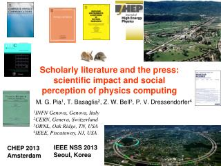 Scholarly literature and the press: scientific impact and social perception of physics computing