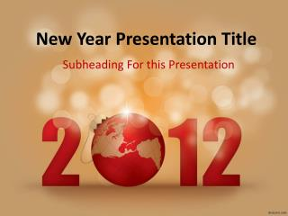 New Year Presentation Title