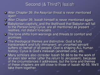 Second  Third Isaiah