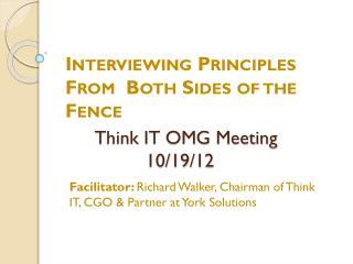 Think IT OMG Meeting     10/19/12