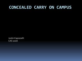 Concealed carry on campus