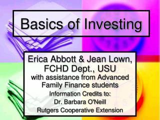 Basics of Investing