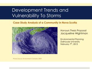 Development Trends and Vulnerability To Storms
