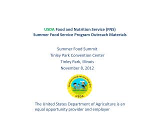 USDA  Food and Nutrition Service (FNS) Summer Food Service Program Outreach Materials