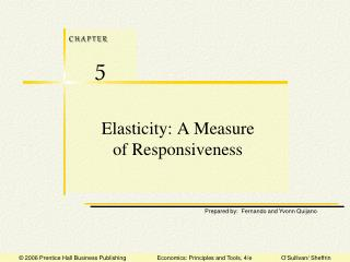 Elasticity: A Measure of Responsiveness