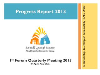 Progress Report 2013