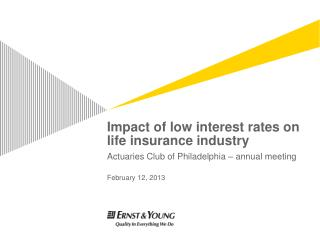 Impact of low interest rates on life insurance industry