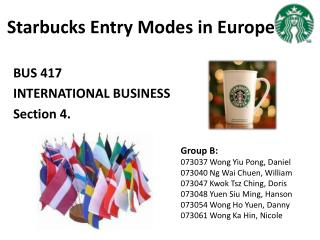 Starbucks Entry Modes in Europe