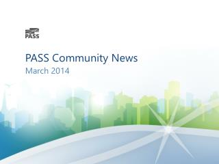 PASS Community News
